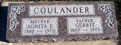 COULANDER, AGNITA E. - Sioux County, Iowa | AGNITA E. COULANDER