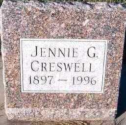 CRESWELL, JENNIE G. - Sioux County, Iowa | JENNIE G. CRESWELL