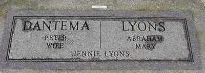 LYONS DATEMA, JENNIE - Sioux County, Iowa | JENNIE LYONS DATEMA