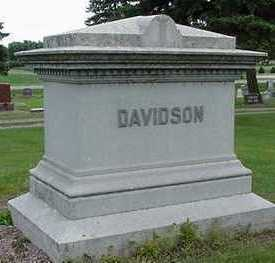 DAVIDSON, HEADSTONE - Sioux County, Iowa | HEADSTONE DAVIDSON