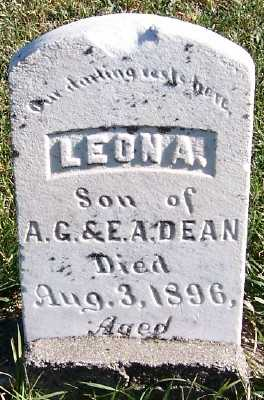 DEAN, LEON A. (SON OF A.G.&E.A.) - Sioux County, Iowa | LEON A. (SON OF A.G.&E.A.) DEAN