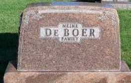 DEBOER, HEADSTONE - Sioux County, Iowa | HEADSTONE DEBOER