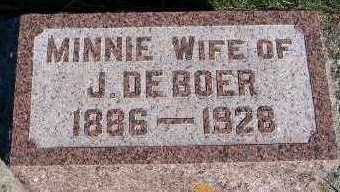 DEBOER, MINNIE (MRS. J.) - Sioux County, Iowa | MINNIE (MRS. J.) DEBOER