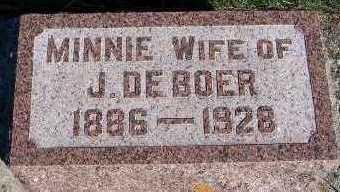 DEBOER, MINNIE (MRS. J.) - Sioux County, Iowa | MINNIE (MRS. J.) DEBOER