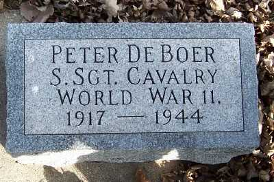 DEBOER, PETER (1917-1944) - Sioux County, Iowa | PETER (1917-1944) DEBOER