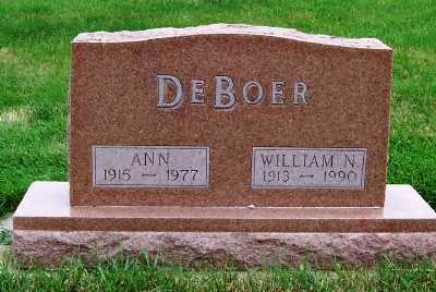 DEBOER, WILLIAM N. - Sioux County, Iowa | WILLIAM N. DEBOER