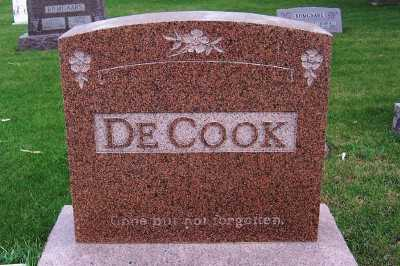 DECOOK, FAMILY HEADSTONE - Sioux County, Iowa | FAMILY HEADSTONE DECOOK