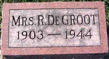 DEGROOT, MRS. R. - Sioux County, Iowa | MRS. R. DEGROOT