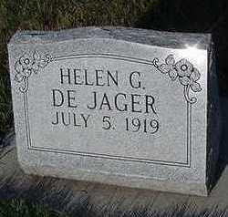 DEJAGER, HELEN G. - Sioux County, Iowa | HELEN G. DEJAGER