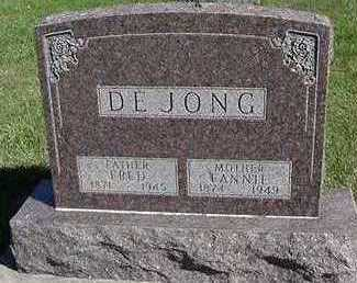 DEJONG, FANNIE (MRS. FRED) - Sioux County, Iowa | FANNIE (MRS. FRED) DEJONG