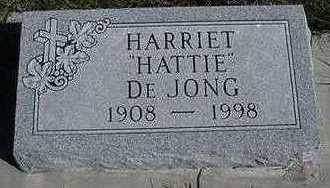 DEJONG, HARRIET  ' HATTIE' - Sioux County, Iowa   HARRIET  ' HATTIE' DEJONG