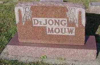 DEJONG, HEADSTONE - Sioux County, Iowa | HEADSTONE DEJONG