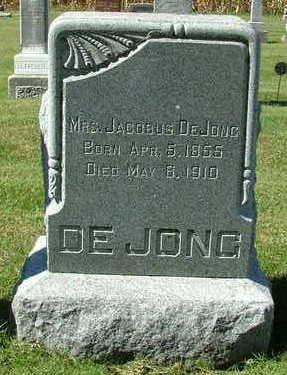DEJONG, MRS. JACOBUS - Sioux County, Iowa | MRS. JACOBUS DEJONG