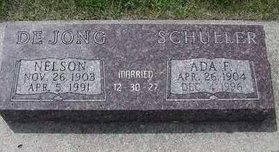 SCHULLER DEJONG, ADA F - Sioux County, Iowa | ADA F SCHULLER DEJONG
