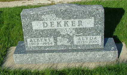 DEKKER, ALYDA (MRS. ALBERT) - Sioux County, Iowa | ALYDA (MRS. ALBERT) DEKKER