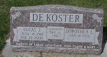 DEKOSTER, DOROTHEA L. - Sioux County, Iowa | DOROTHEA L. DEKOSTER