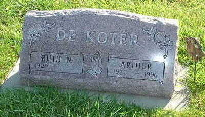 DEKOTER, ARTHUR - Sioux County, Iowa | ARTHUR DEKOTER