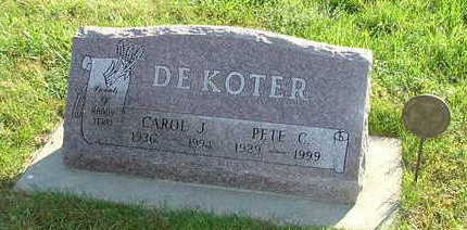 DEKOTER, CAROL J. (MRS. PETE) - Sioux County, Iowa | CAROL J. (MRS. PETE) DEKOTER