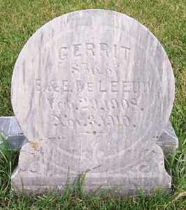DELEEUW, GERRIT (SON OF E.&E.) - Sioux County, Iowa | GERRIT (SON OF E.&E.) DELEEUW