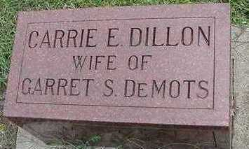 DILLON DEMOTS, CARRIE E. (MRS. GARRET) - Sioux County, Iowa | CARRIE E. (MRS. GARRET) DILLON DEMOTS