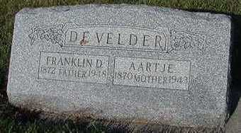 DEVELDER, AARTJE (MRS. FRANKLIN) - Sioux County, Iowa | AARTJE (MRS. FRANKLIN) DEVELDER