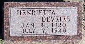 DEVRIES, HENRIETTA - Sioux County, Iowa | HENRIETTA DEVRIES