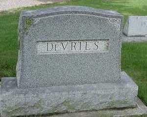 DEVRIES, HEADSTONE - Sioux County, Iowa | HEADSTONE DEVRIES
