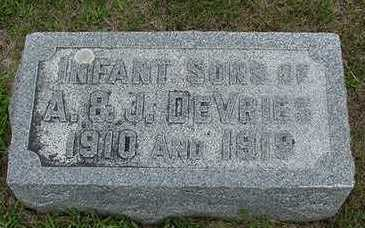 DEVRIES, INFANT SON OF A. J. - Sioux County, Iowa | INFANT SON OF A. J. DEVRIES