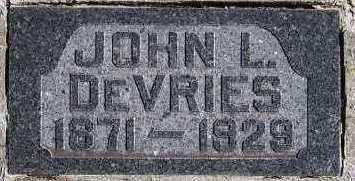 DEVRIES, JOHN L. - Sioux County, Iowa | JOHN L. DEVRIES