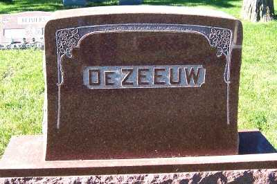 DEZEEUW, HEADSTONE - Sioux County, Iowa | HEADSTONE DEZEEUW