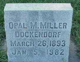 MILLER DOCKENDORF, OPAL M. - Sioux County, Iowa | OPAL M. MILLER DOCKENDORF