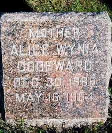 WYNIA DODEWARD, ALICE - Sioux County, Iowa | ALICE WYNIA DODEWARD
