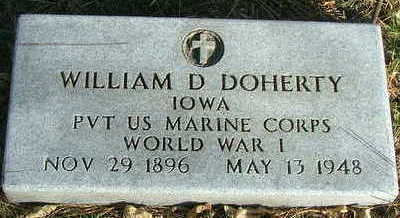 DOHERTY, WILLIAM D. - Sioux County, Iowa   WILLIAM D. DOHERTY