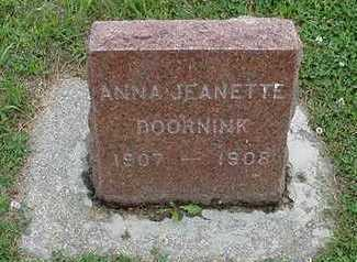 DOORNINK, ANNA JEANETTE - Sioux County, Iowa | ANNA JEANETTE DOORNINK