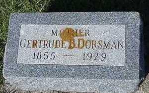 DORSMAN, GERTRUDE B. - Sioux County, Iowa | GERTRUDE B. DORSMAN