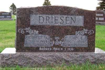 DRIESEN, JOHN E. - Sioux County, Iowa | JOHN E. DRIESEN