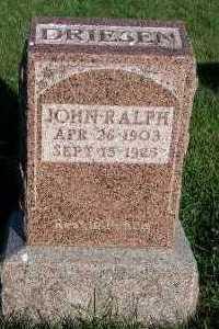 DRIESEN, JOHN RALPH - Sioux County, Iowa | JOHN RALPH DRIESEN