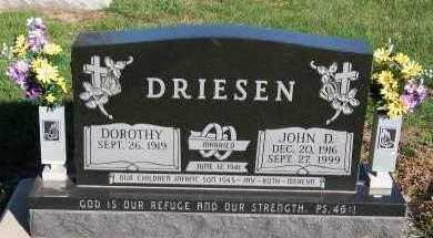 DRIESEN, JOHN D. - Sioux County, Iowa | JOHN D. DRIESEN