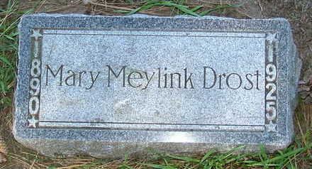 MEYLINK DROST, MARY - Sioux County, Iowa | MARY MEYLINK DROST