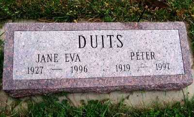 DUITS, JANE EVA - Sioux County, Iowa | JANE EVA DUITS
