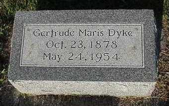 DYKE, GERTRUDE - Sioux County, Iowa | GERTRUDE DYKE