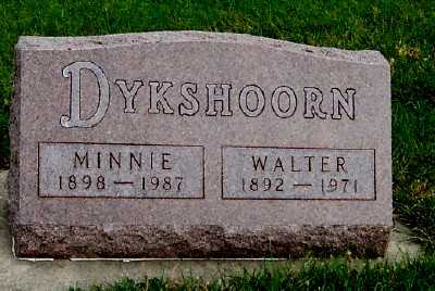 DYKSHOORN, MINNIE - Sioux County, Iowa | MINNIE DYKSHOORN