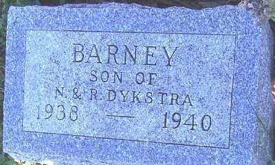 DYKSTRA, BARNEY (SON OF N. & R.) - Sioux County, Iowa | BARNEY (SON OF N. & R.) DYKSTRA