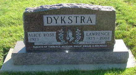DYKSTRA, LAWRENCE - Sioux County, Iowa | LAWRENCE DYKSTRA