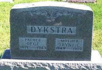 DYKSTRA, OEGE - Sioux County, Iowa | OEGE DYKSTRA
