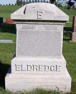 ELDREDGE, HEADSTONE - Sioux County, Iowa | HEADSTONE ELDREDGE