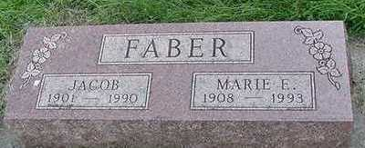 FABER, MARIE E. (MRS. JACOB) - Sioux County, Iowa | MARIE E. (MRS. JACOB) FABER
