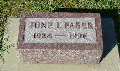 FABER, JUNE I. - Sioux County, Iowa | JUNE I. FABER