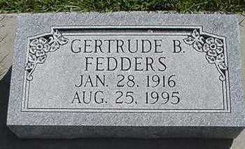 FEDDERS, GERTRUDE B. - Sioux County, Iowa | GERTRUDE B. FEDDERS