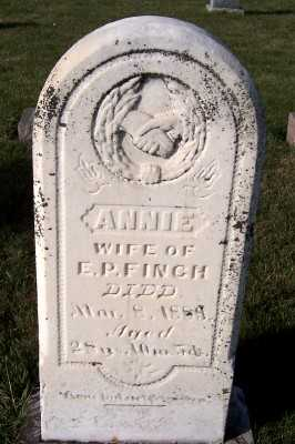 FINCH, ANNIE (MRS. E.P.) - Sioux County, Iowa | ANNIE (MRS. E.P.) FINCH